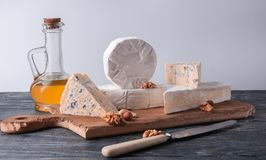 Still life with cheese. stock photography