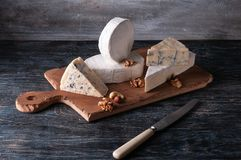 Still life with cheese. royalty free stock photography