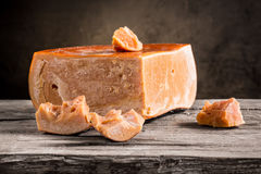 Still life of cheese. On a wooden board Royalty Free Stock Photography