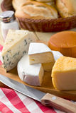 Still life with cheeses Stock Photos