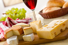 Still life with cheeses Royalty Free Stock Images