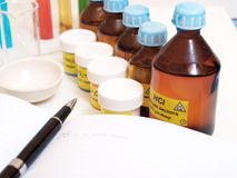 Still Life with chemicals Stock Image