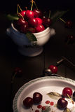 Still Life With Cherries Royalty Free Stock Photo