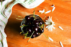 Still life with cherries. Royalty Free Stock Photo
