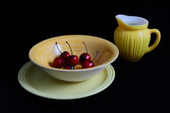 Still Life With Cherries Stock Photo