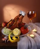 Still life with chicken Royalty Free Stock Photos