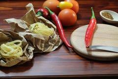 Still life with chili Stock Photo
