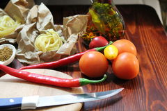 Still life with chili Royalty Free Stock Photo