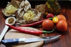 Still life with chili Stock Photos
