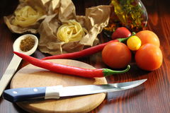 Still life with chili Royalty Free Stock Photography