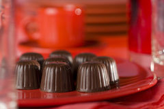 Still-life with chocolate bonbons Stock Image