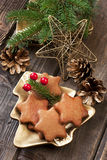 Still life with christmas cookies Royalty Free Stock Photos