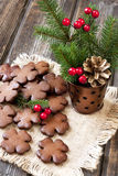 Still life with christmas cookies Royalty Free Stock Images
