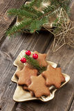 Still life with christmas cookies Royalty Free Stock Image