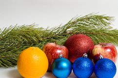 New Year`s and Christmas stock photos