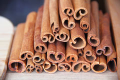Still life with cinnamon Stock Photos