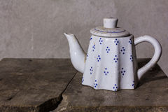 Still life classic ceramic kettle Royalty Free Stock Images