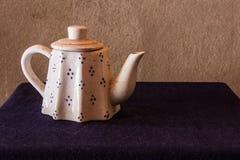 Still life classic ceramic kettle Stock Image