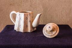 Still life classic ceramic kettle Royalty Free Stock Photos