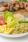 Still life: close-up studio shot variety of side dishes Royalty Free Stock Photo
