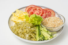 Still life: close-up studio shot variety of side dishes Royalty Free Stock Photography