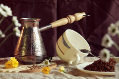 Still life with coffe maker Royalty Free Stock Images