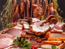 Still life of cold cuts Royalty Free Stock Image