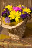 Still life with colorful fresh flowers Stock Images