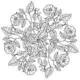 Still life coloring book antistress style Royalty Free Stock Photo