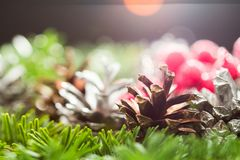 Still life composition with Christmas decorations Stock Photo
