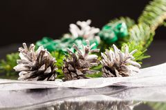 Still life composition with Christmas decorations Royalty Free Stock Photo