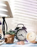Still life composition with clock Stock Photography