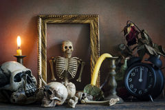 Still life concept,time and death Stock Photography