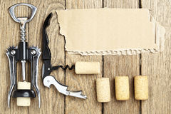 Still life with cork-screws Royalty Free Stock Images
