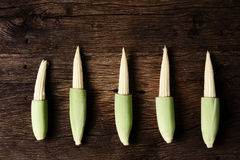 Still life with corn on wooden Royalty Free Stock Photo