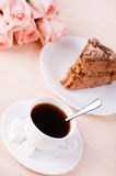 Still Life: cup of coffee, cake Stock Photography