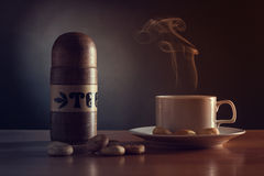 Still life with cup of tea. Royalty Free Stock Photos