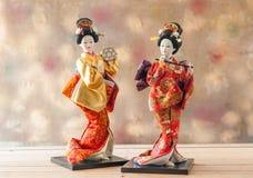 Still life Cute japanese geisha doll Royalty Free Stock Photos
