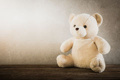 Still life of a cute teddy bear Royalty Free Stock Images
