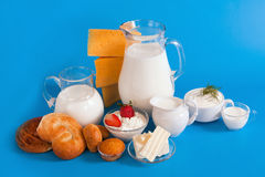 Still life with dairy products Royalty Free Stock Photography