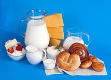 Still life with dairy products Stock Photo