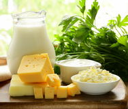 Still life of dairy products Stock Image