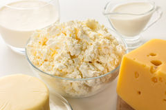 Still life of dairy products Stock Images