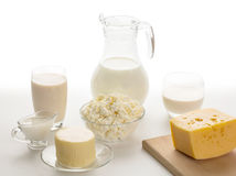 Still life of dairy products Stock Photos