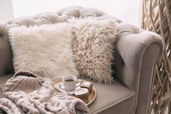 Still life details of nordic living room Royalty Free Stock Images