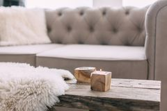 Still life details of nordic living room Royalty Free Stock Photography