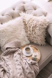 Still life details of nordic living room Royalty Free Stock Photo