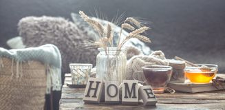 Free Still Life Details Of Home Interior On A Wooden Table Stock Photography - 144722482