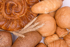 Still life of different kinds of bread Stock Images