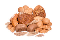Still life of different kinds of bread Royalty Free Stock Photo